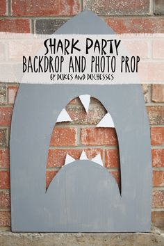 shark party backdrop and photo prop - perfect for shark week!