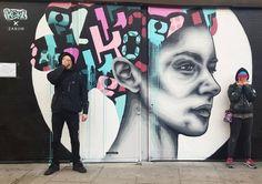 First on Instagram!  today's mural on Hackney Road by @zabouartist & @koeone_  #zabouartist #koeone #hackneyroad #streetartistry #streetartlondon #londonstreetart #graffitilovers #shutterart #graffitilovers #instagraffiti #graffiti_magazine #tv_streetart #ldncallingblog #ig_graffiti #streetart_daily #ukstreetart #urbanart #wallporn #urbanwalls