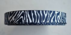White Tiger/Zebra stripes on navy blue 7/8 by IsamayDesigns, $1.59