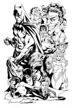 Batman Coloring Pages, Superhero Coloring, Marvel Coloring, Adult Coloring Book Pages, Chibi Marvel, Hq Marvel, Joker Art, Batman Art, Apollo Tattoo