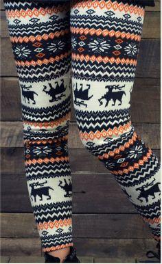 Cute Winter Print Leggings