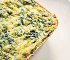 Simple Spinach, Feta, and Egg Casserole for weekend brunch with friends.