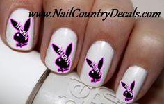 50pc PlayBoy Bunny Nail Decals Nail Art Nail Stickers Best Price NC219 – Nail Country