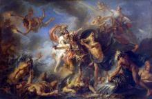 Fury of Achilles - Charles-Antoine Coypel