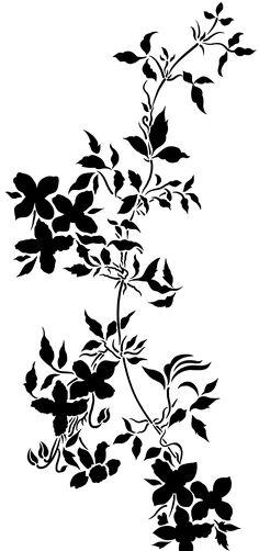 Black And White Flowers, Black Leaves, Black N White, Solid Black, Botanical Flowers, Flowers Nature, Floral Motif, Floral Prints, Paisley Art