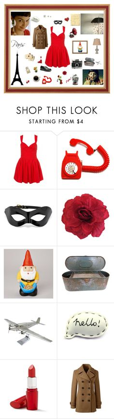 Style Amélie Poulain by lillie-lune on Polyvore featuring mode, Lands' End, Coco de Mer, Clarins, DESTIN, Polaroid, Dr. Martens and Victrola
