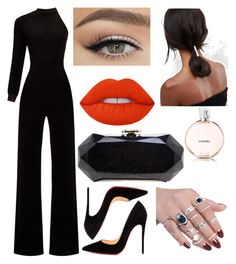""""" by marianadya on Polyvore featuring Vetements, Christian Louboutin, Chanel, Lime Crime and ASOS"