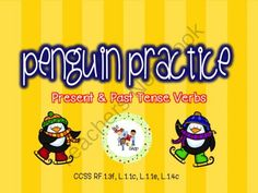 Penguin Practice - Present and Past Tense Verbs from The T.L.C. Shop on TeachersNotebook.com (24 pages)  - A cute and simple PowerPoint activity you can use to teach and practice word ending -s, -ing, and -ed.