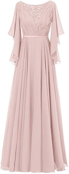 Diyouth Ruffles Sleeves Pleated Long Beading Mother of the Bride Dress Dusty Rose Size 2 Dress Brokat Modern, Hijab Dress Party, Hijab Outfit, Beautiful Dress Designs, Kebaya Dress, Dusty Rose Dress, Long Gown Dress, Pakistani Wedding Dresses, Dressy Dresses