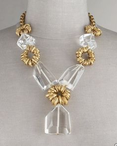 Graduated Crystal Necklace by Stephen Dweck.