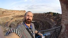At the top level of the Colosseum on the Walks of Italy VIP walking tour.