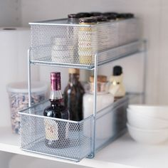 Howards Storage World | Mesh Pantry Basket - SIlver