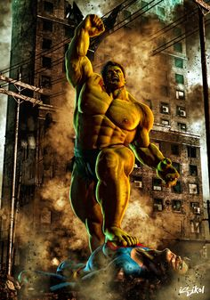 The Hulk vs. Superman - isikol.deviantart.com
