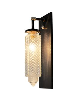 CHRYSLER GLASS GLOBE WALL SCONCE - Contemporary Industrial Mid-Century / Modern Art Deco Wall Lighting - Dering Hall