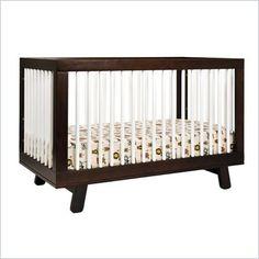 Babyletto Hudson 3-in-1 Convertible Crib in Two-Tone Espresso $350