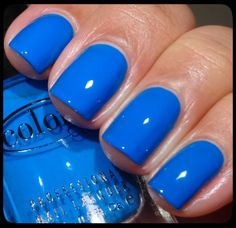 Color Club, Fiesta Collection For Spring 2013 - Endless Summer, another gorgeous, bright blue. Dries to satin finish.