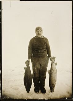 """Adolf Lindstrøm (1866 – 1933) from Hammerfest was the chef for Roald Amundsen on the polar ship """"Gjoa"""" which was the first to sail through the Northwest Passage, and Amundsen's famous expedition to the South Pole."""