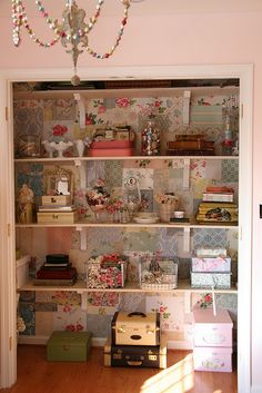 Craft room cupboard