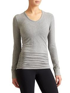 Pure Top - Hold your om like a natural in this breathable, seamless organic cotton top with ruching for a just-right fit.