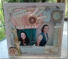 Love this mixed media graduation layout by Candy Rosenberg using @spellbinders dies!