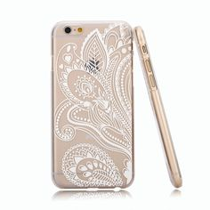 AmazonSmile: iPhone 6 Case, Hundromi(TM) Plastic Case Cover for Iphone 6 Henna White Floral Paisley Flower Mandala (For iphone 6 4.7 inch Screen): Cell Phones & Accessories