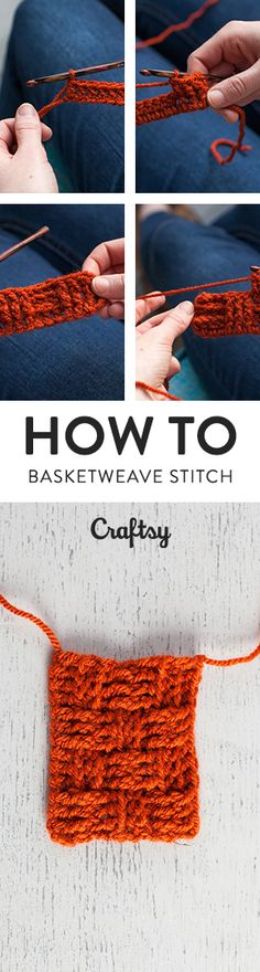The crochet basketweave stitch is sets of front and back post double crochet stitches that creates a fabric with a woven texture. It's a wonderful stitch to use for crocheting scarves, blankets and washcloths. @craftsy