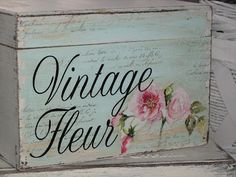 I love shabby style, my box