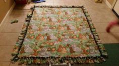 Safari theme tie blanket #safari #handmade #tieblankets