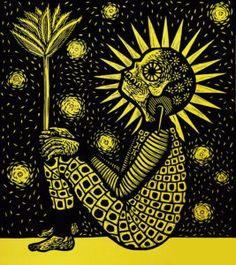 BENDECIDA – Jainitesilvestre Mexican Pictures, Linocut Prints, Art Prints, Glow Paint, Black Anime Characters, Maya, Digital Art Gallery, Aztec Art, Simple Acrylic Paintings
