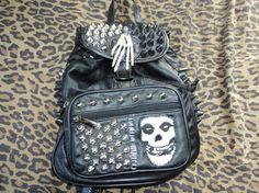 Misfits bag studded faux leather