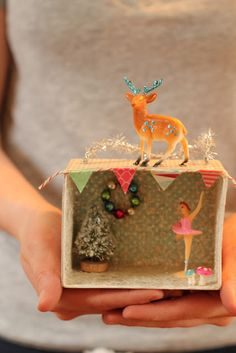 from the cottage nest - dioramas made by her girls