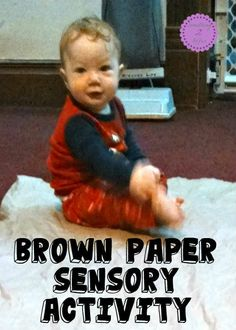 Brown Paper Sensory Activity