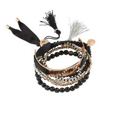 HAND OVER LOVE BRACELET SET ($42) ❤ liked on Polyvore featuring jewelry, bracelets, beading jewelry, beads jewellery, party jewelry, engraved bangle and engraved jewellery