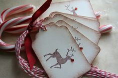 Gift tag - Could be made with some cardstock, a fun stamp, and bead or rhinestone nose!