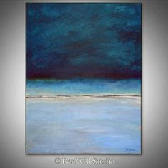 Abstract BLUE Painting ORIGINAL Artwork Large Blue by benwill,