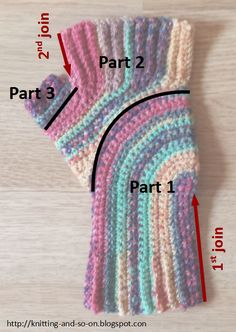 Free Crochet Pattern: U-Turn Mitts  Very Unique Construction