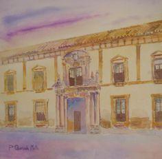 Palacio  del Vizconde de Miranda. Acuarela.2010