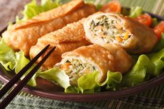 Recipe: Egg rolls with chicken. Appetizer Dishes, Dinner Dishes, Appetizer Recipes, Shrimp Egg Rolls, Crab Rolls, Egg Roll Recipes, Great Recipes, Asian Recipes, Healthy Recipes