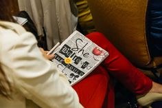 A journal in action at a client's annual conference.