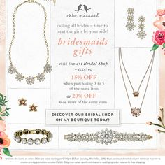 Chloe + Isabel bridal jewelry bridesmaids