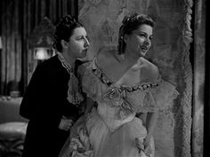 Joan Fontaine and Judith Anderson in Rebecca Daphne Du Maurier, Out Of The Dark, Female Characters, Fictional Characters, Oscar Winners, Alfred Hitchcock, Thriller, The Darkest, Statue