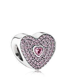 PANDORA Charm - Sterling Silver & Cubic Zirconia Valentine's Day, Limited Edition | Bloomingdale's