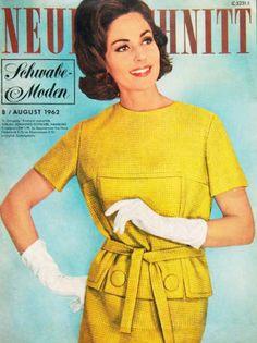 1960s Magazine Cover; Yellow Dress - Neuer Schnitt 8/1962
