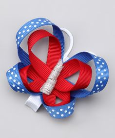 Red, White & Blue Butterfly Clippy