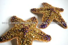 Exquisite handcrafted and embellished starfish pasties made of a super sparkly, chunky, glitter base and intricately hand beaded and sequined. Ever