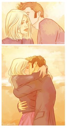 Doctor Who and Rose Tyler    I love you,Rose Tyler. by *viria13 on deviantART