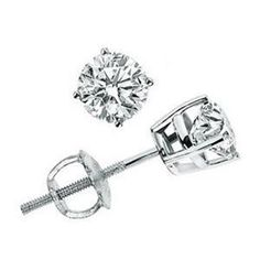 Diamantring / Diamantarmband / Diamantschmuck: Brillantohrstecker 0.50 Karat aus 585er Weiß-, Gel...