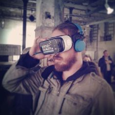 An awesome Virtual Reality pic! At the #animalrights conference in #luxembourg we've been testing the 3D #virtualreality tour  of a slaughterhouse made by @animalequality_de - it's #amazing! #activism #vegan #oculus #vr by vegan_dalf check us out: http://bit.ly/1KyLetq