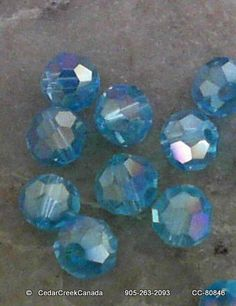 Robins Egg Blue Faceted Round 6mm by CedarCreekCanada on Etsy