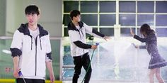 """Kim So Hyun and Nam Joo Hyuk Have a Cute Water Fight in """"Who Are You"""" Stills"""